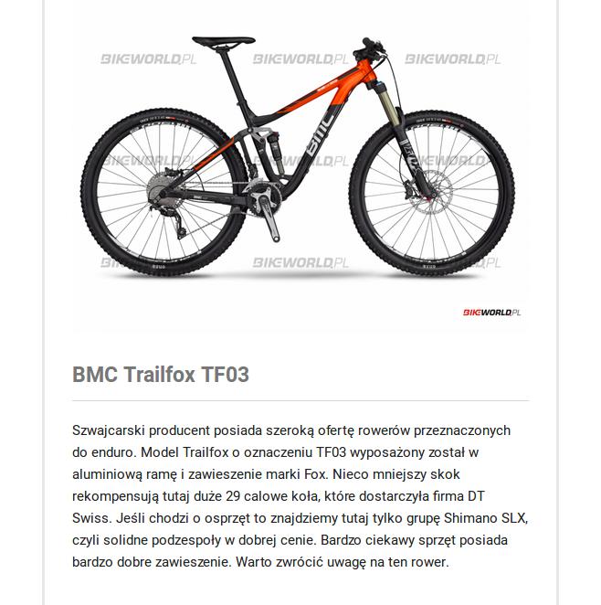 BMC trailfox TF03 – warty uwagi rower enduro