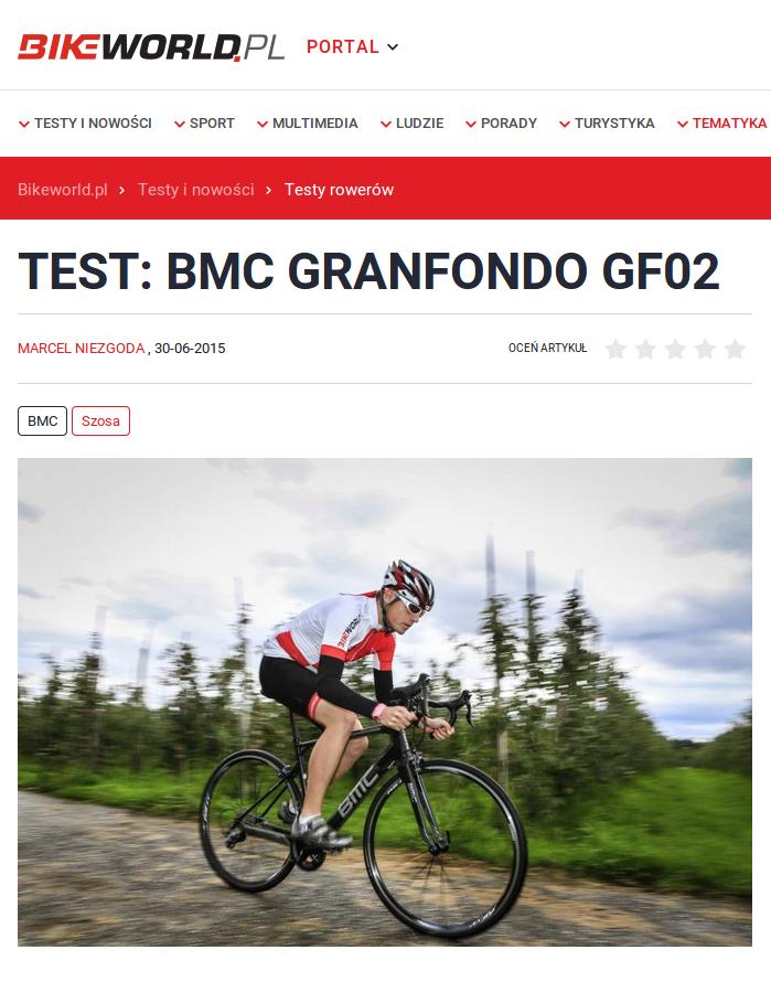 BMC granfondo GF02 – komfortowy i uniwersalny rower szosowy