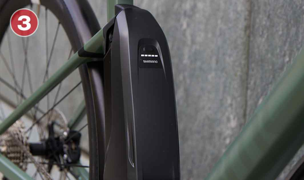 Center-mount Battery Optimizes the center of gravity for a natural ride feel