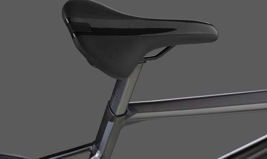 """Wspornik siodełka o specjalnym kształcieWspornik siodełka (przekrój w kształcie litery """"D""""), rozwiązanie znane z topowych modeli Teammachine SLR, charakteryzuje się niską wagą i zwiększa komfort w trakcie całodniowej jazdy."""