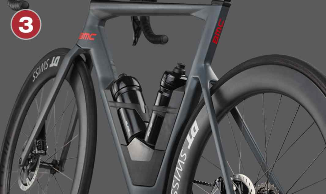 Dropped Seatstay Design  BMC's iconic seatstay design improves  vertical compliance and wheel traction retaining lateral stiffness for comfort over long efforts and sharp accelerations on every terrain.