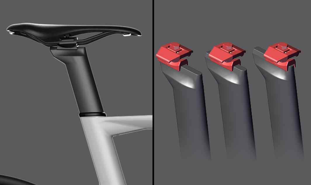 Aero Post Kamm tail profile seatpost designed to match the aerodynamic performance of the Timemachine R01 and provide a wide range of adjustments. • 3 Offset positions:  0mm, 15mm, 30mm   • 2 Lenghts:    210mm (48&51),  270mm (54,56,58,61)