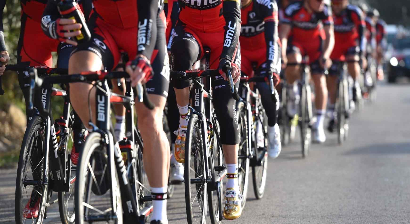 Cycling: BMC Racing Team 2016  Illustration Illustratie / Sidi Shoe Chaussure Schoen / SANCHEZ Samuel (ESP)/ Continental Tires Pneus Banden /  Equipe Ploeg /(c)Tim De Waele