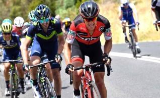 Cycling: 19th Santos Tour Down Under 2017/ Stage 2 - Men Richie PORTE (AUS)/ Gorka IZAGIRRE (ESP)/ Esteban CHAVES (COL)/  Stirling - Paracombe 395m (148,5km)/ Staging Connections Stage / Men / TDU / pool GW ©Tim De Waele