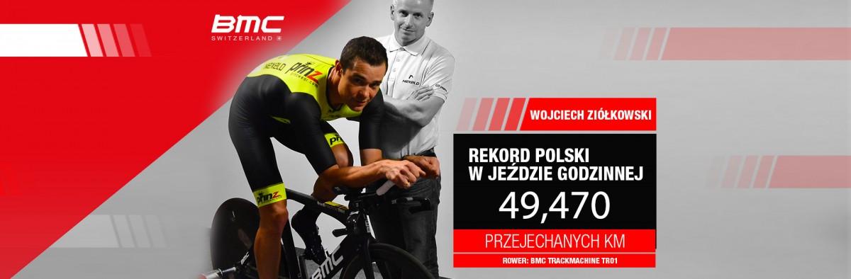 Nowy rekord Polski w jeździe godzinnej