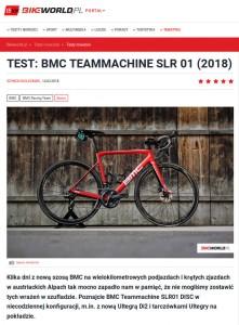 Fragment recenzji roweru BMC Teammachine SLR01 DISC