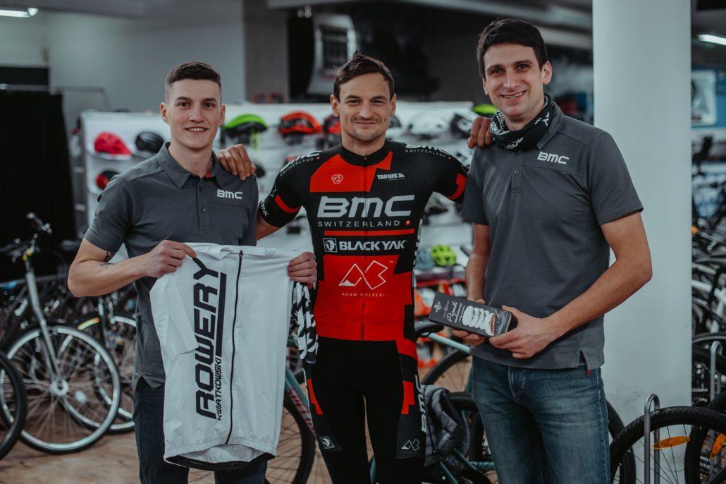 Adam Bielecki i bikefitting w BMC Lab Toruń (fot. Szymon Gruchalski)